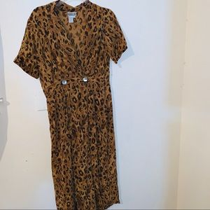 Robbie Bee Animal Print Dress 6